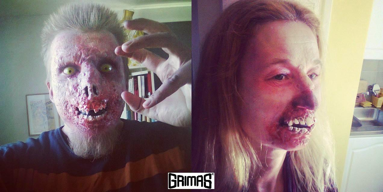 FOX-mainos zombiet. Efekti/tehoste-maskeeraus: Ari Savonen.
