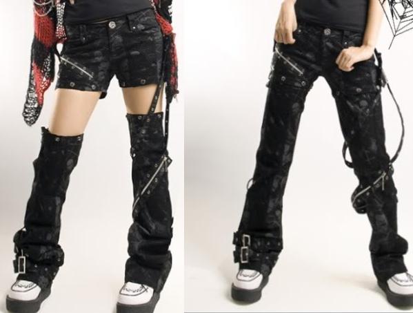 Diseño de pantalones cortados