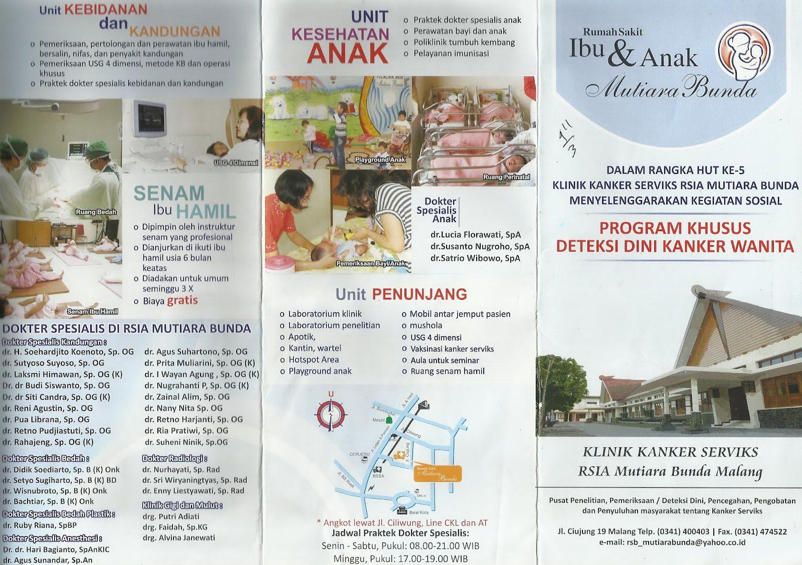 brosur rumah sakit