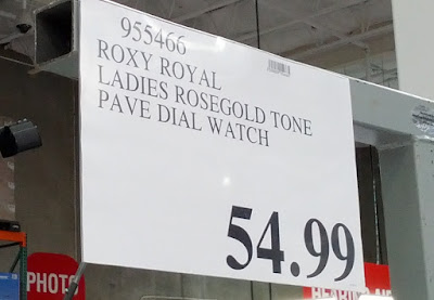 Deal for the Roxy Royal Ladies Rosegold Tone Pave Dial Watch at Costco