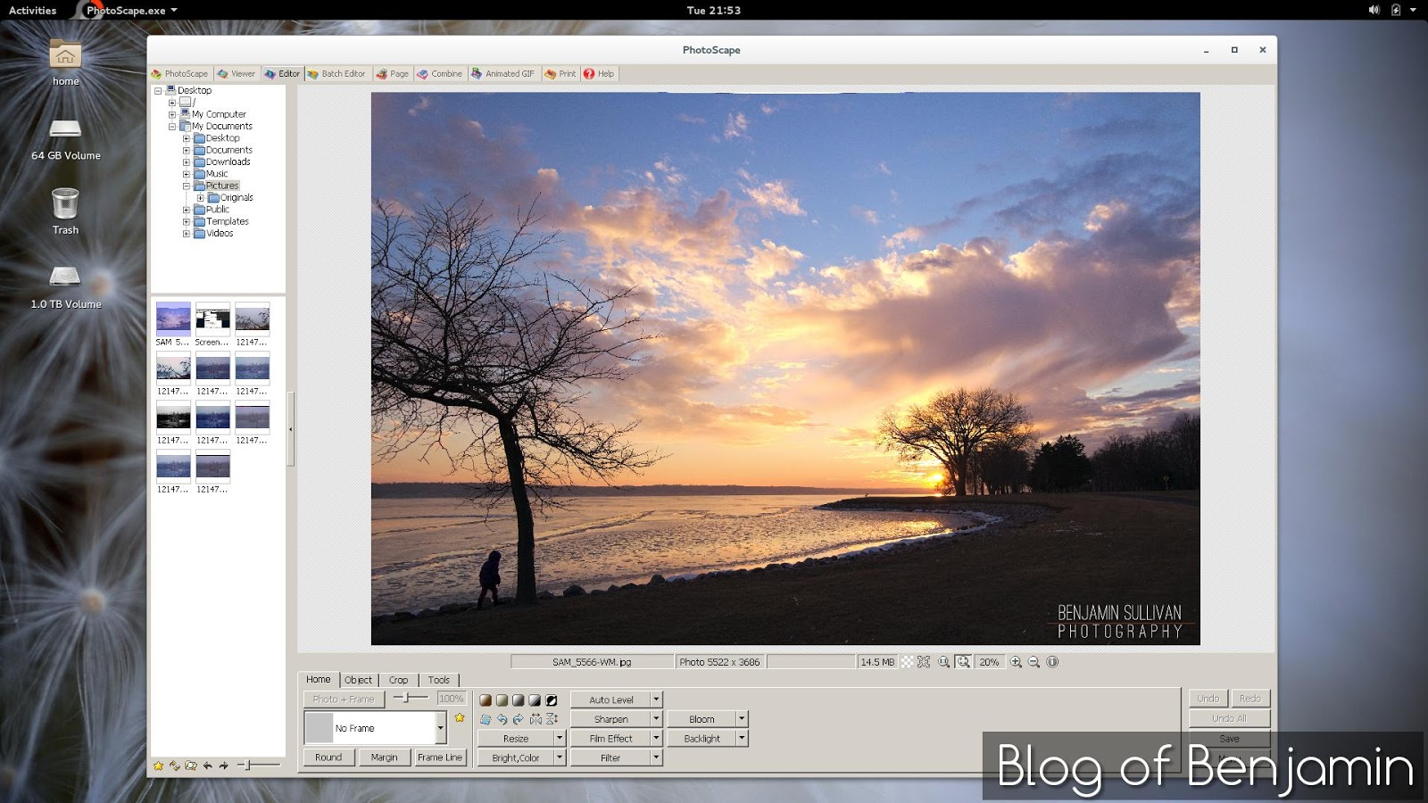 How to Install PhotoScape on Fedora 21, Red Hat, Open Suse