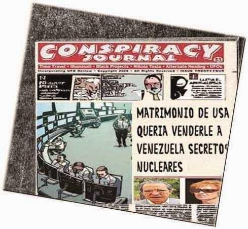 front page cómic - Venezuela secretos nucleares