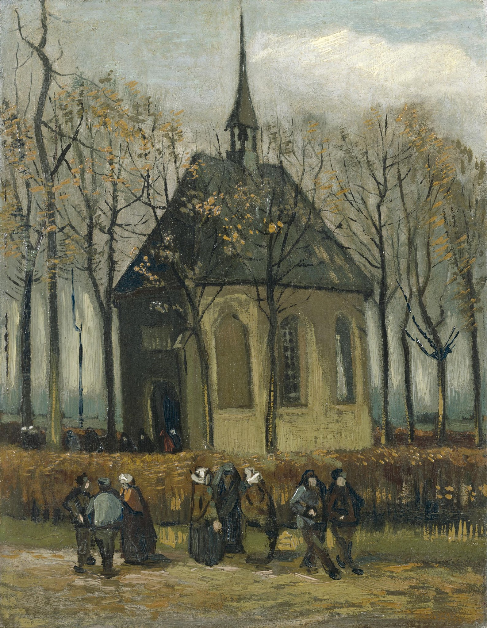 Congregation Leaving the Reformed Church in Nuenen by Vincent van Gogh