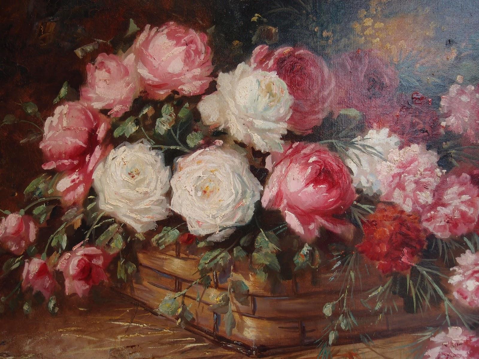 Dipinti antichi nuovi arrivi antichit bellini for Quadri con rose rosse