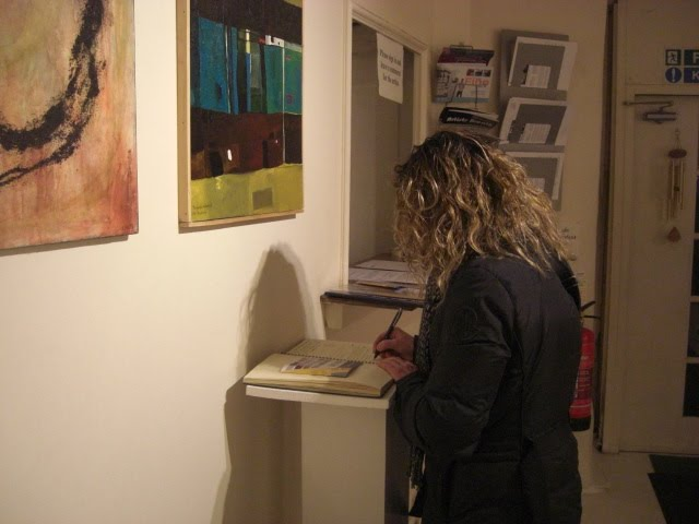 The artist Lucia Sandroni signing The Honour Book