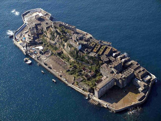 hashima cidade abandonada sobre ilha