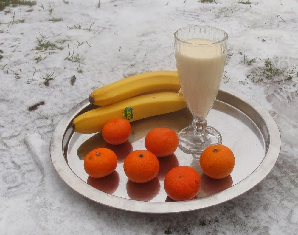 Banane-Mandarinen-Vanille-Joghurt-Shake