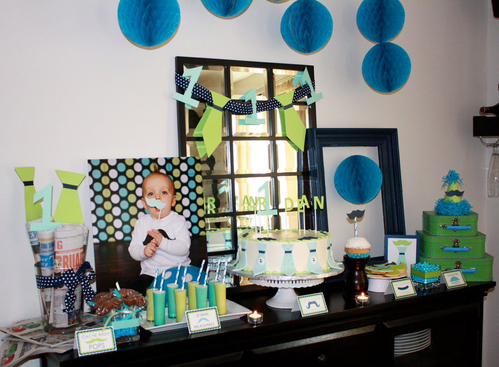 Studio lime design parties dean 39 s little mister for Table design for 1st birthday