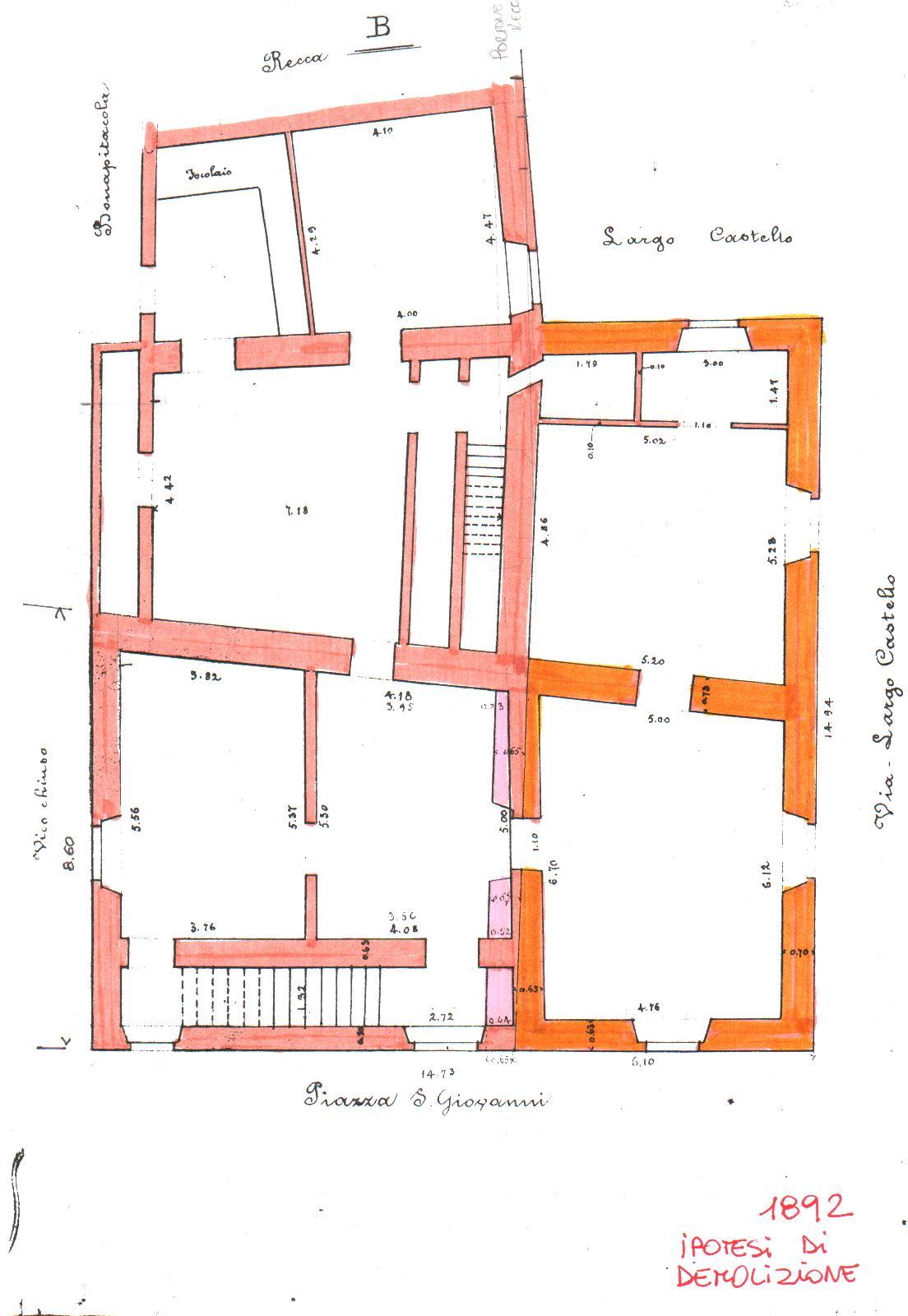 La bottega del disordine il castello di san severo for Disegnare la pianta del piano di casa