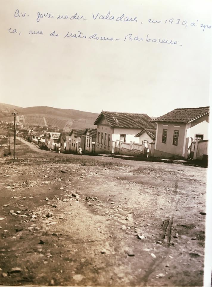 Avenida Governador Benedito Valadares de Barbacena MG 1930