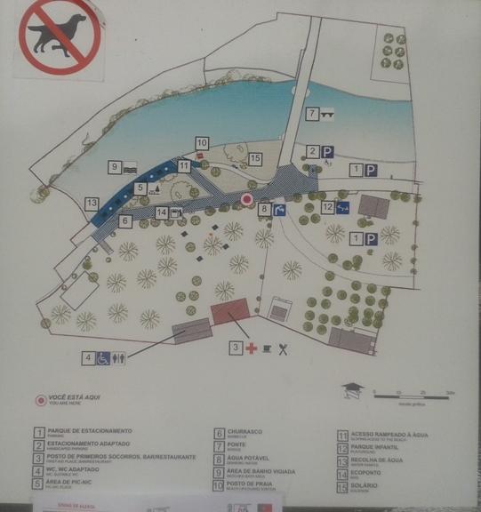 Mapa zona de Lazer de Vila Cova