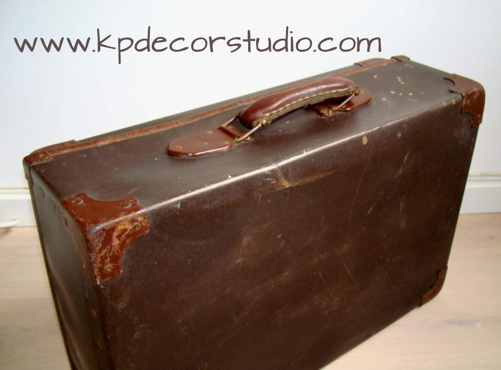 Kp tienda vintage online maleta antigua a os 30 old for Maletas antiguas online