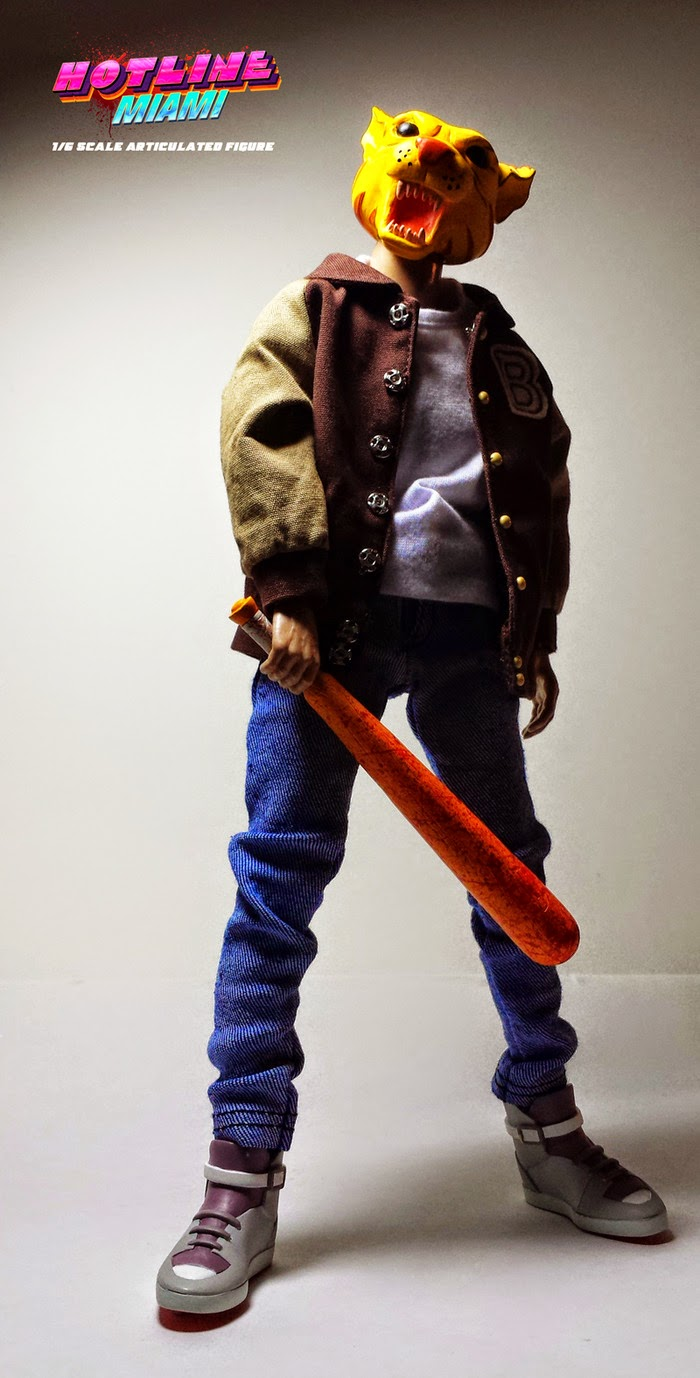 """Tony"" Jacket Hotline Miami 1/6 Scale Articulated Figure by Erick Scarecrow"