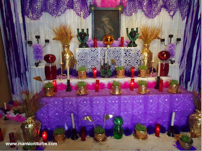 During the Holy Week in Patzcuaro Altar of Sadness at Hotel Mansion Iturbe