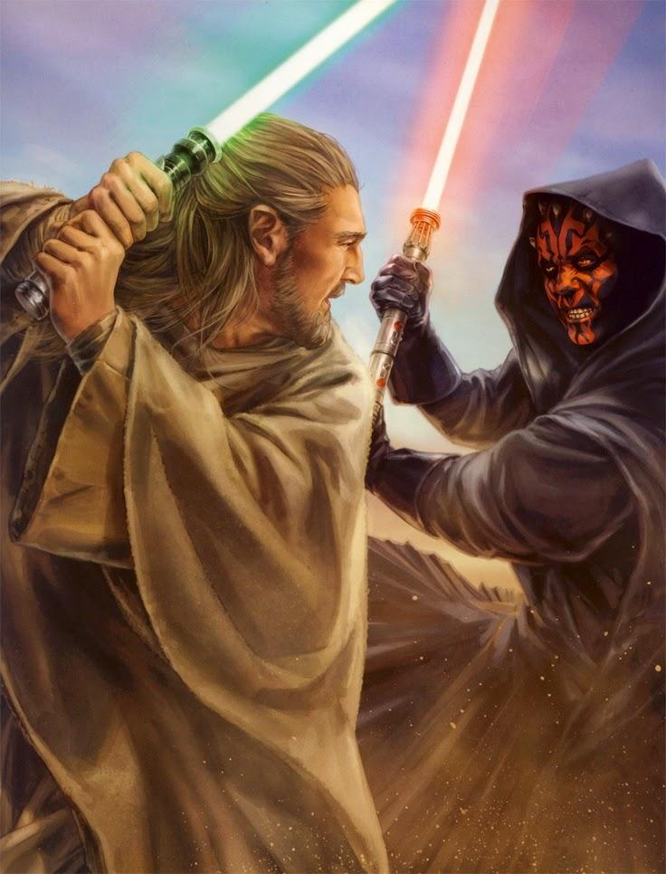 Qui-Gon Jinn versus Darth Maul