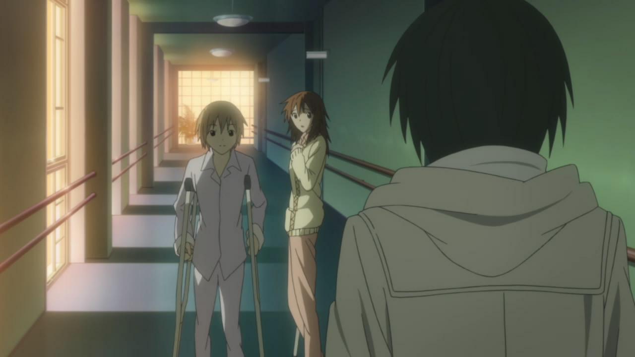 Bungaku shoujo Miu Asakura and Konoha Inoue at hospital