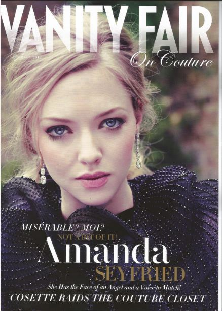 amanda seyfried covers vanity fair magazine december