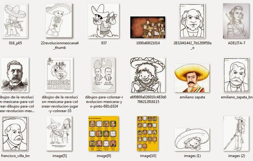 Imágenes para el 20 de noviembre (Revolución Mexicana) para colorear ...
