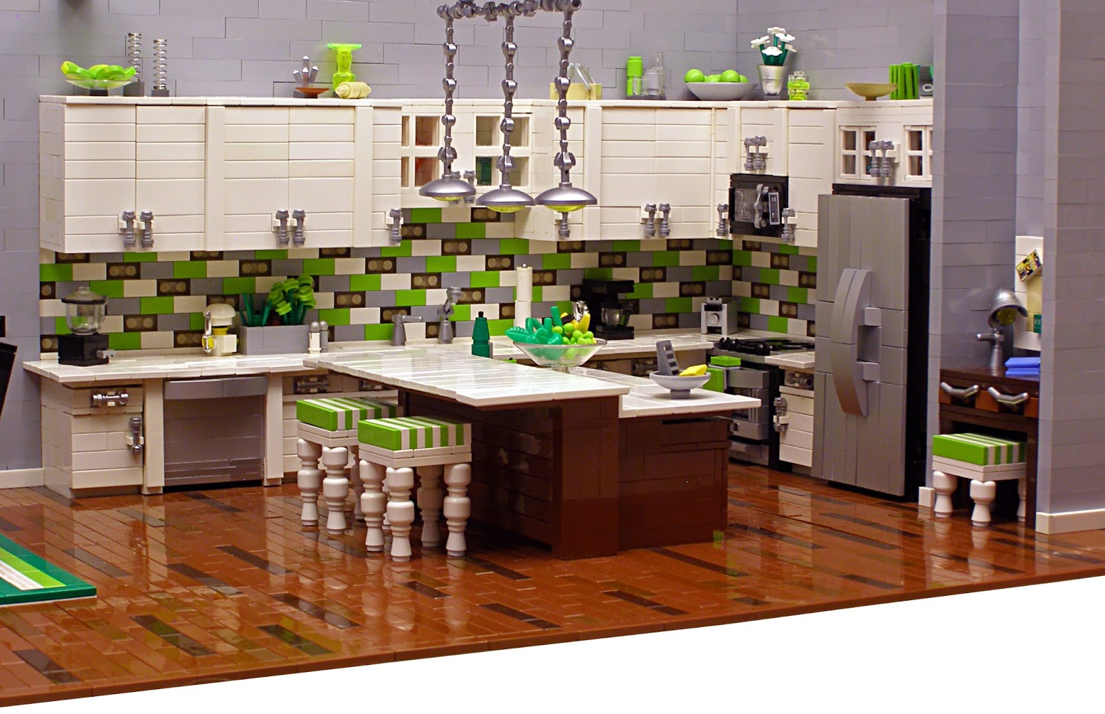 The brickverse amazing lego interiors for Kitchens u build