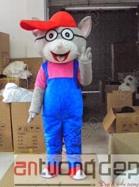 may mascot mô hình quảng cáo