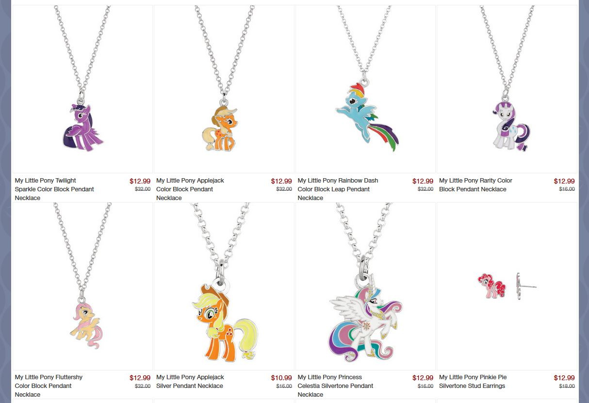 Mlp merch my little pony merchandise news zulily has started a sale on my little pony products today with mainly jewelery and a few other items the jewelery on sale is made by world trade jewelers mozeypictures Images