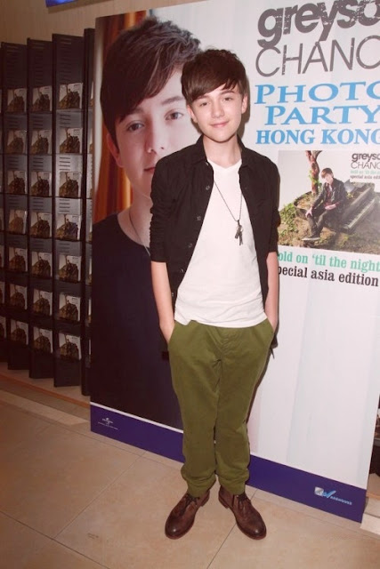Greyson Chance at his Photo Party in Hong Kong