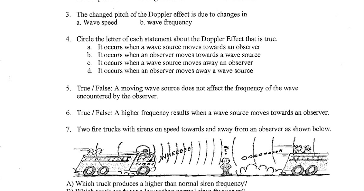 Coach Hs Science Classes Doppler Effect and Wave Speed Worksheets – Affect Effect Worksheet
