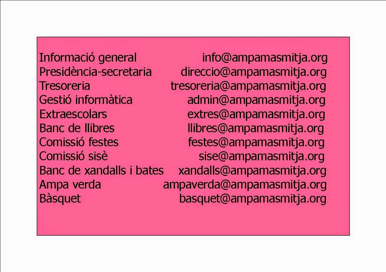 E-MAILS AMPA