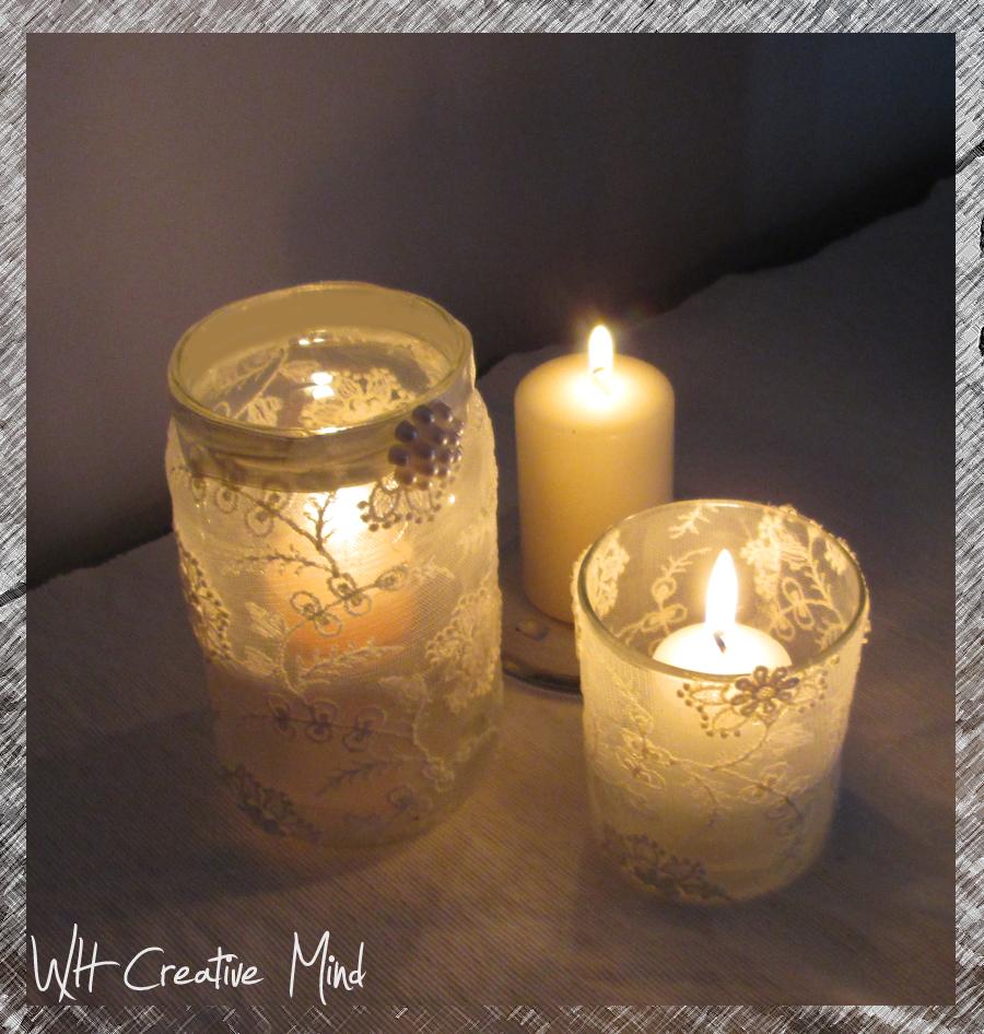 What happens in a creative mind decorazioni fai da te - Portacandele in vetro ...