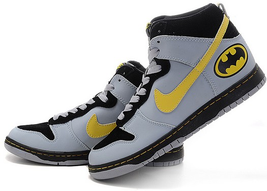 nike dunk batman shoes high tops the dark knight logo