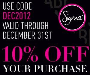 -10% hasta el 31 de dic., código: DEC2012. Por compras de 30$ o superiores un regalito!!