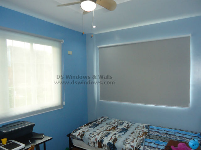 Combining Sunscreen and Blackout Roller Blinds for Boys Room - Greenwoods, Taytay Rizal