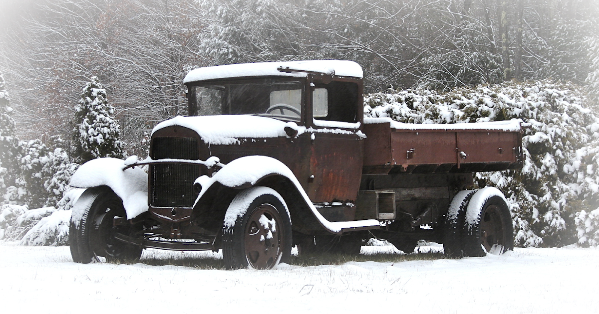 Pieced Pastimes Snow Covered Old Truck Love