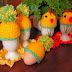 Dekoracje wielkanocne- czapeczki na jaja
