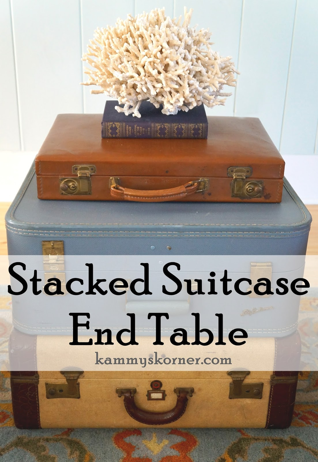 Vintage Suitcase End Table. I Really Donu0027t Feel Like This Blog Post Needs  Any Additional Information. The Pictures Say It All, Right? Get Some Old  Suitcases ...