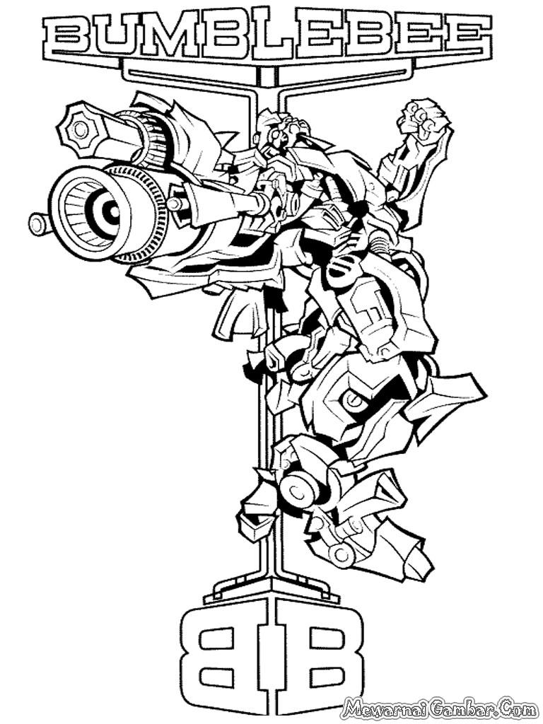 Gambar Animasi Masjid Diwarnai Oleh Anak Mewarnai Robot Transformer