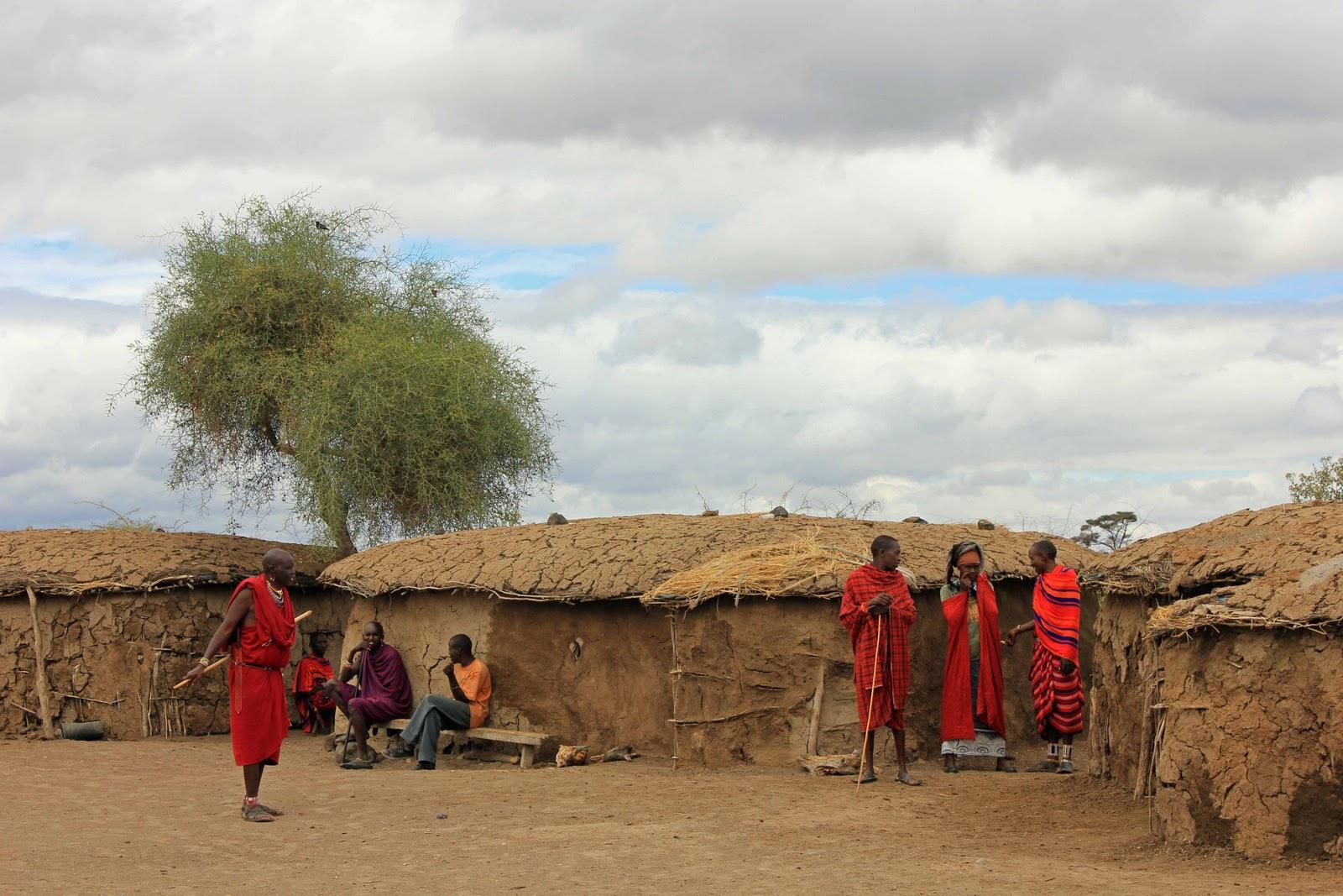 Afrika Masai+village+2