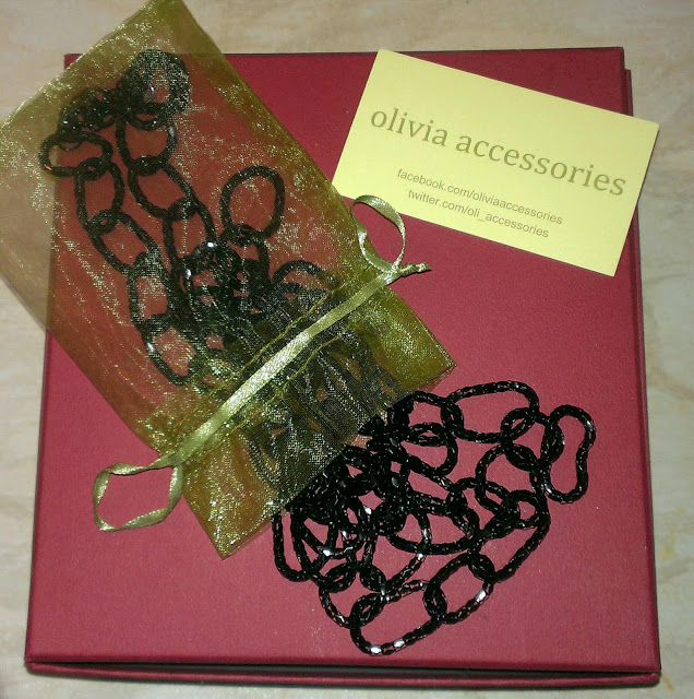Olivia Accessories gift bag and mesh fringe necklace KatSick