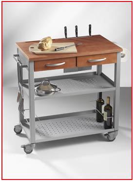 Marzua el carrito de cocina un auxiliar valioso for Carrito auxiliar cocina