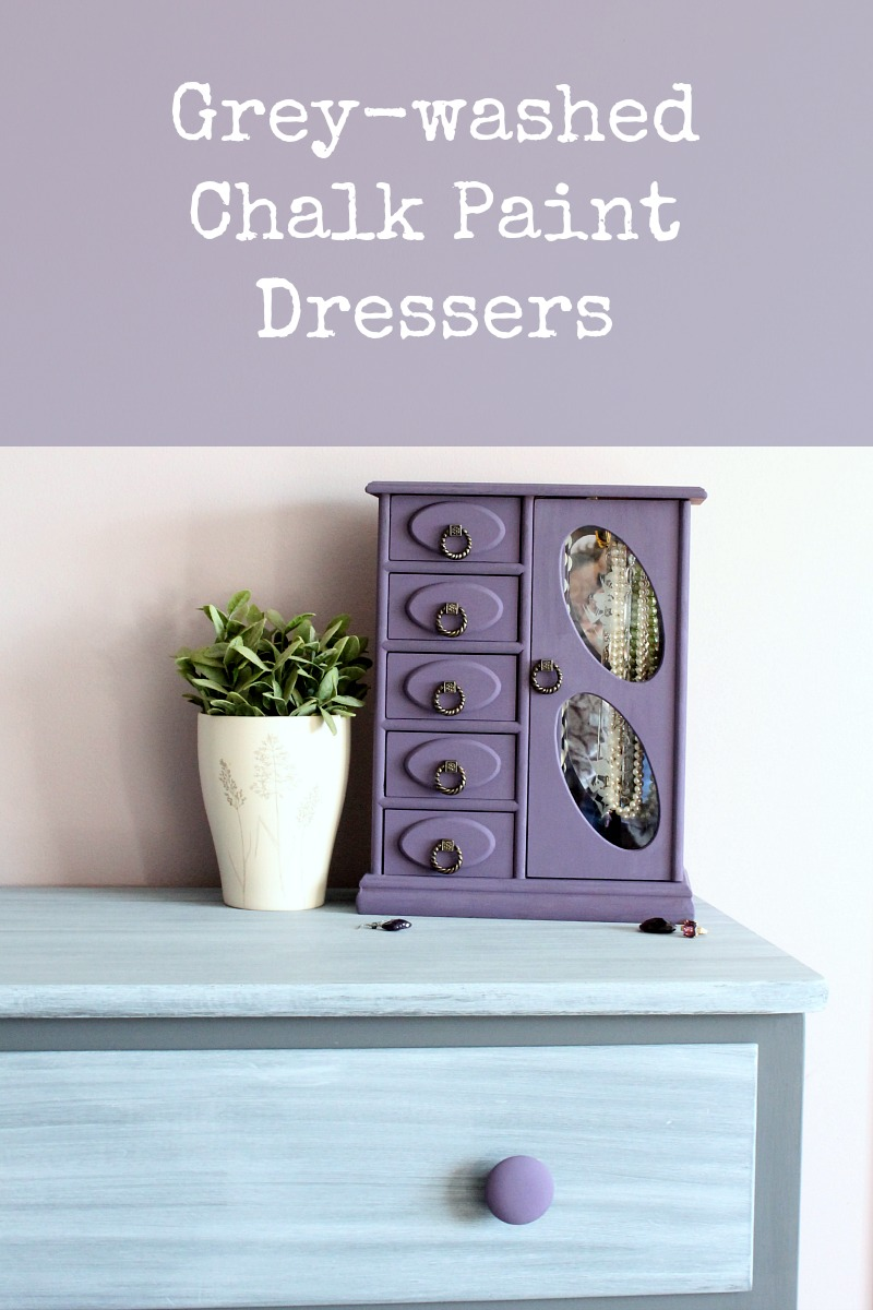 Grey washed chalk painted dressers
