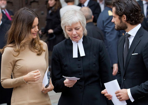 Prince Carl Philip and Princess Sofia of Sweden attend opening of the General Synod in the Uppsala Domkyrka, Sweden