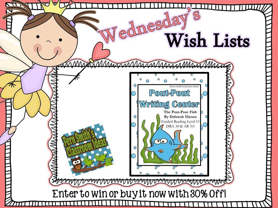 Wish List Wednesday Giveaway: Pout-Pout Fish Ocean Writing Center for Common Core