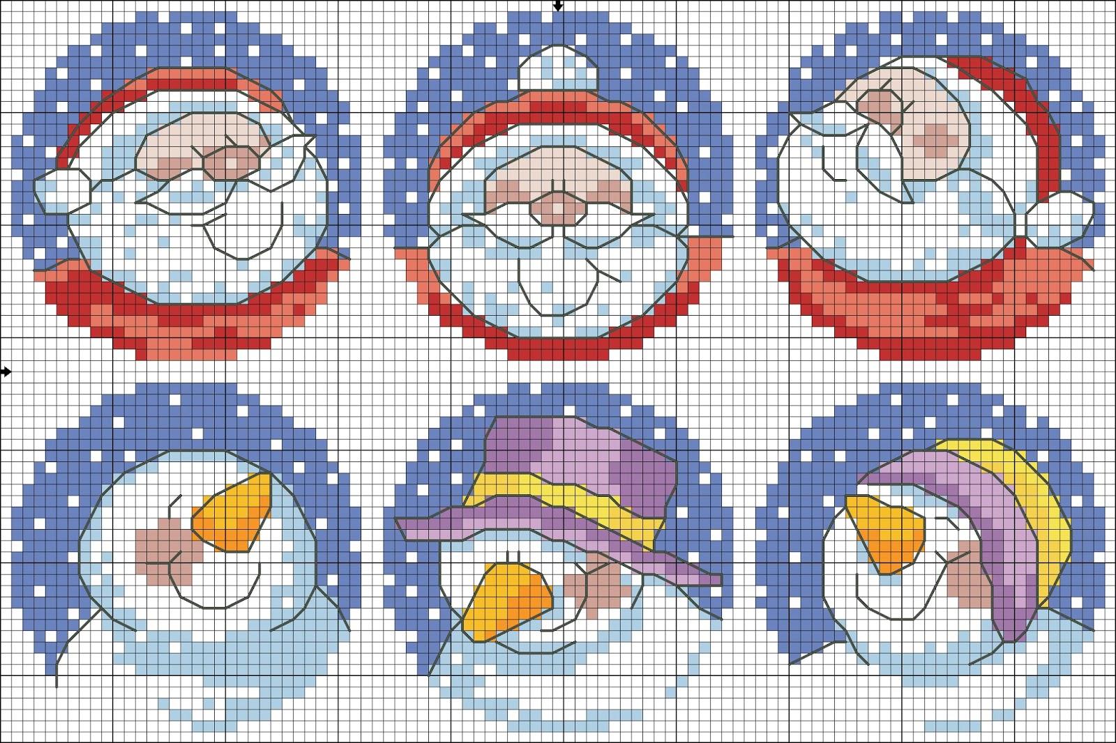 Схемы вышивки шаров на елку