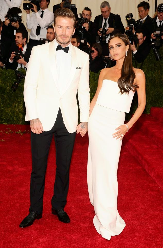 Red Carpet Met Gala 2014 david victoria beckham