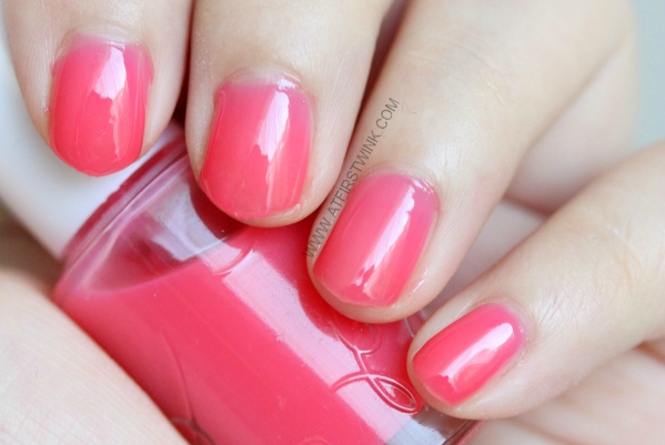 Etude House nail polish PK001 - Cherry Blossom syrup on nails