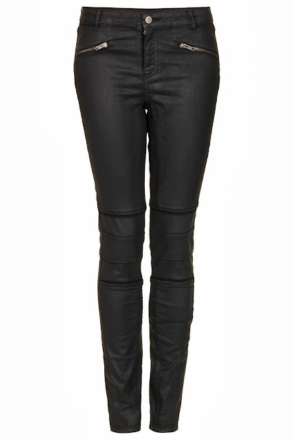 coated black trousers