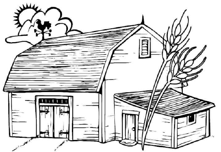 how to draw a horse stable