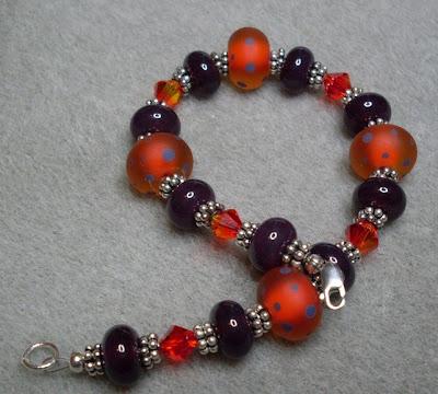 'Aubergine & Saffron' bracelet by Claire Francis