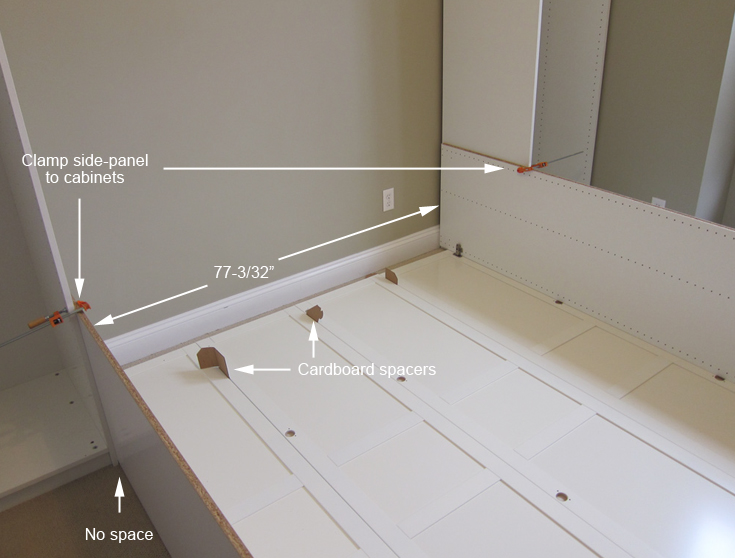 Jerrys Projects Murphy Bed With IKEA Cabinets - Building a murphy bed ikea