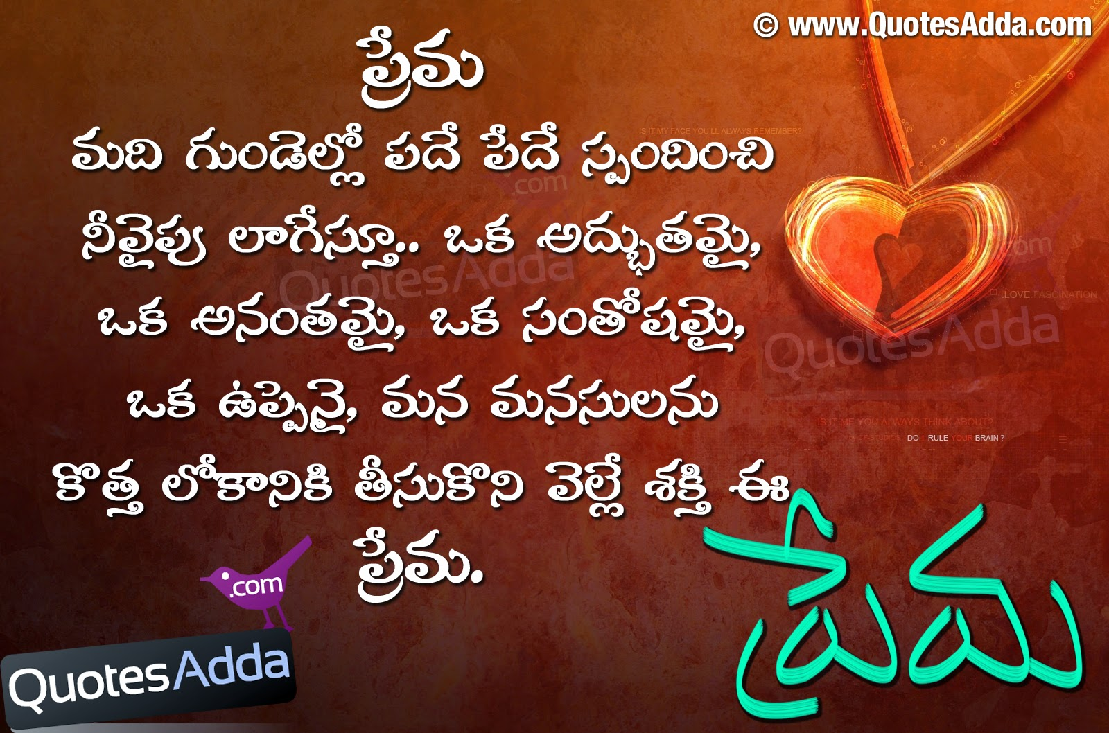 love meaning quotations in telugu language quotesadda